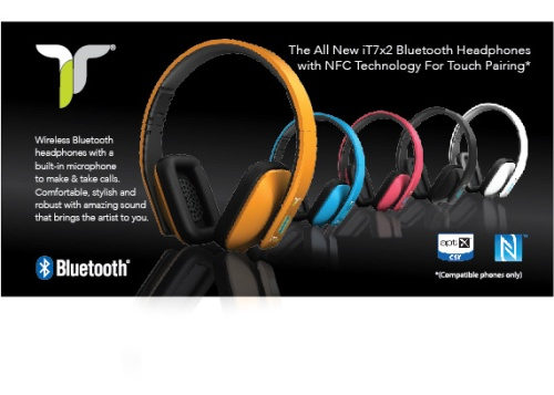 iT7x2 Bluetooth Headphones with NFC Technology